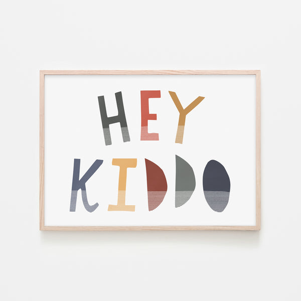 Hey Kiddo - Winter (Landscape) |  Framed Print