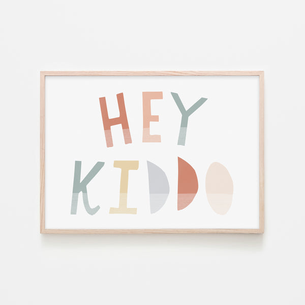 Hey Kiddo - Subtle (Landscape) |  Framed Print