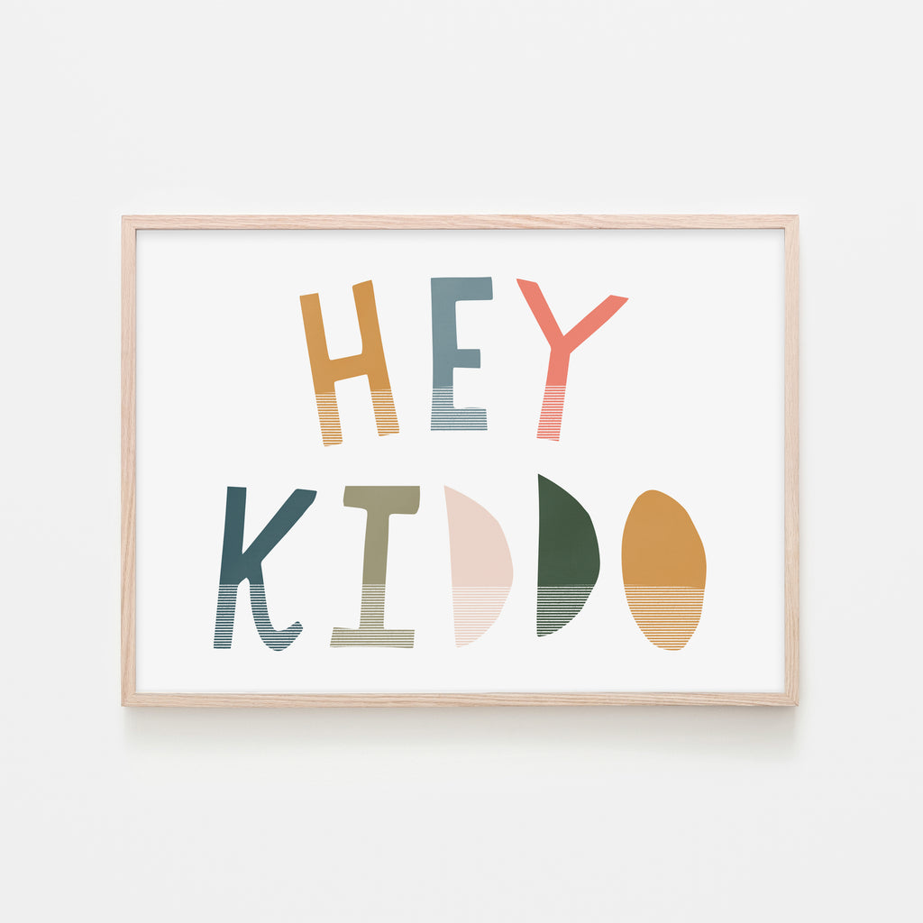 Hey Kiddo - Space (Landscape) |  Framed Print