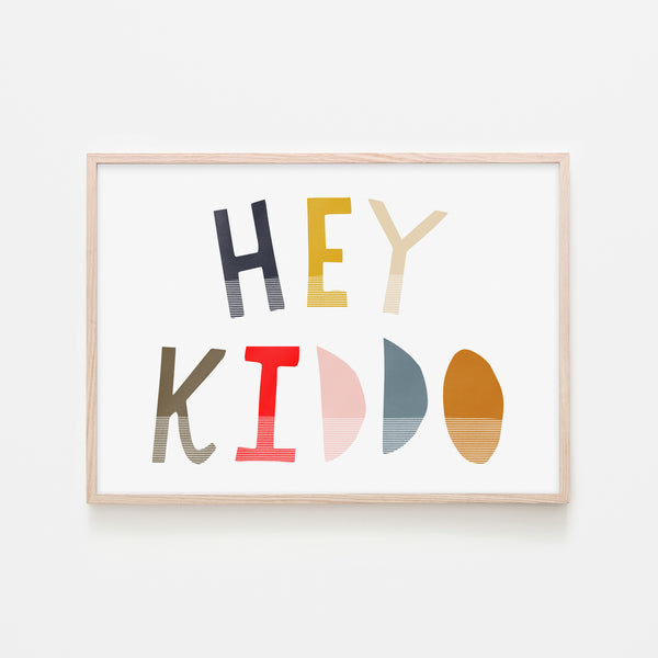 Hey Kiddo - Muted (Landscape) |  Framed Print