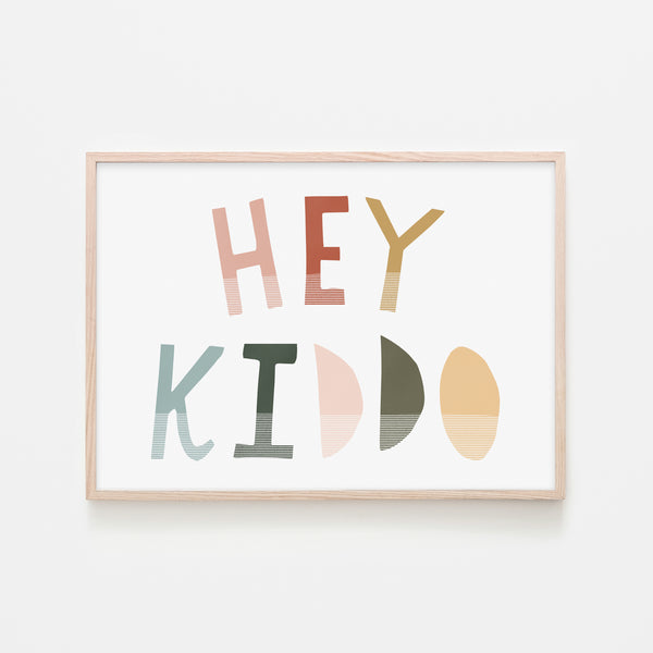 Hey Kiddo - Autumn (Landscape) |  Framed Print