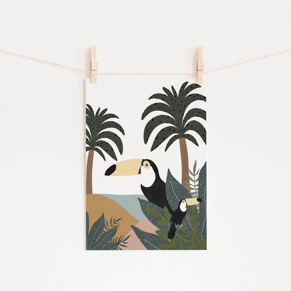 Toucans - Jungle Wall Art |  Unframed