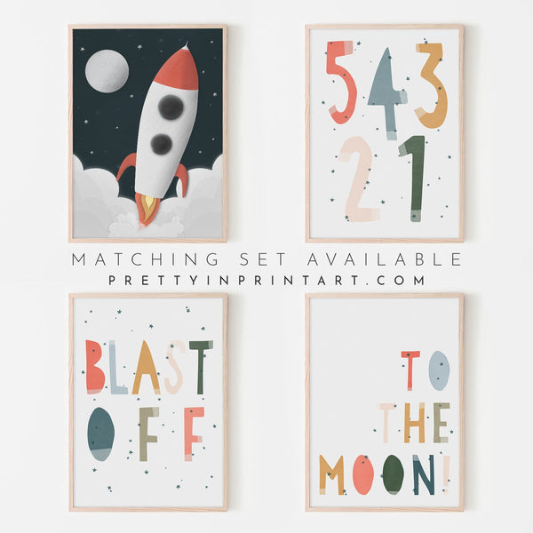 54321 Blast Off - Space Theme |  Framed Print