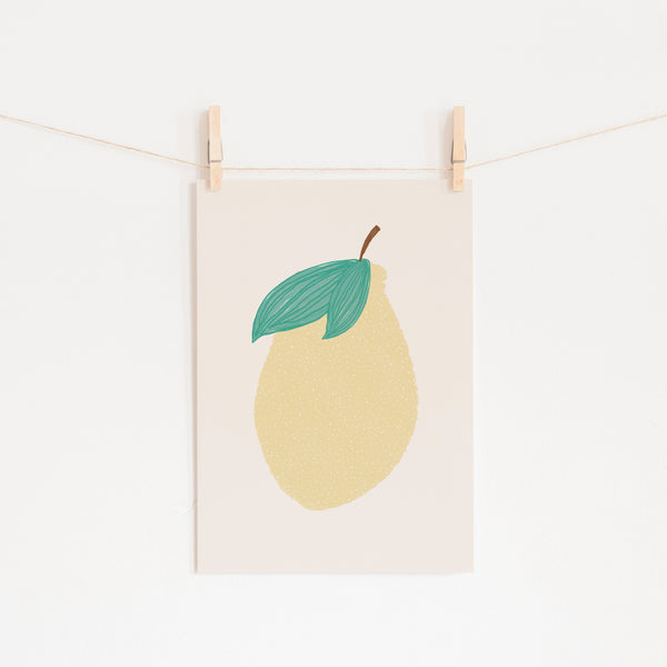 Lemon Nursery Art |  Unframed