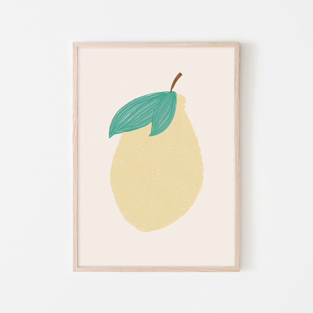 Lemon Nursery Art |  Framed Print