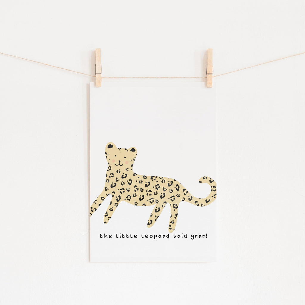 Little Leopard - Nursery Art |  Unframed
