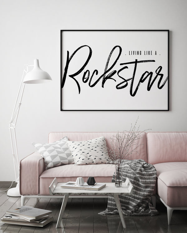 Living Like A Rockstar |  Framed Print