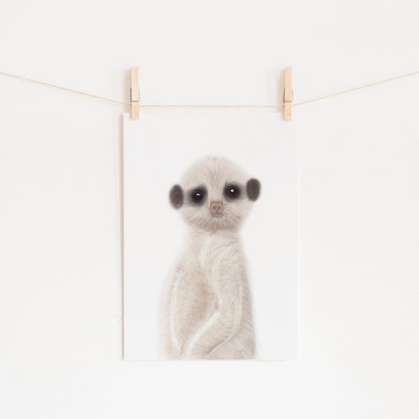 Meerkat - Funny Animal Art |  Unframed