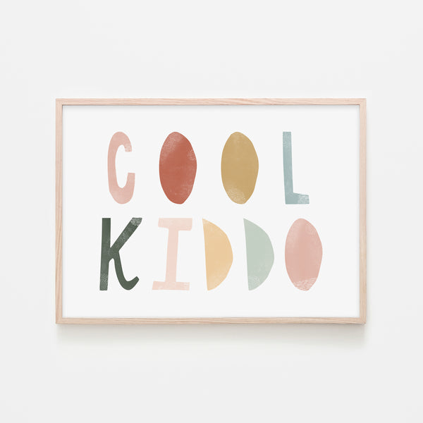 Cool Kiddo - Autumn Walk |  Framed Print