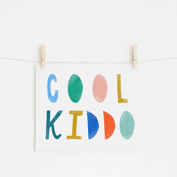 Cool Kiddo - Brights |  Unframed