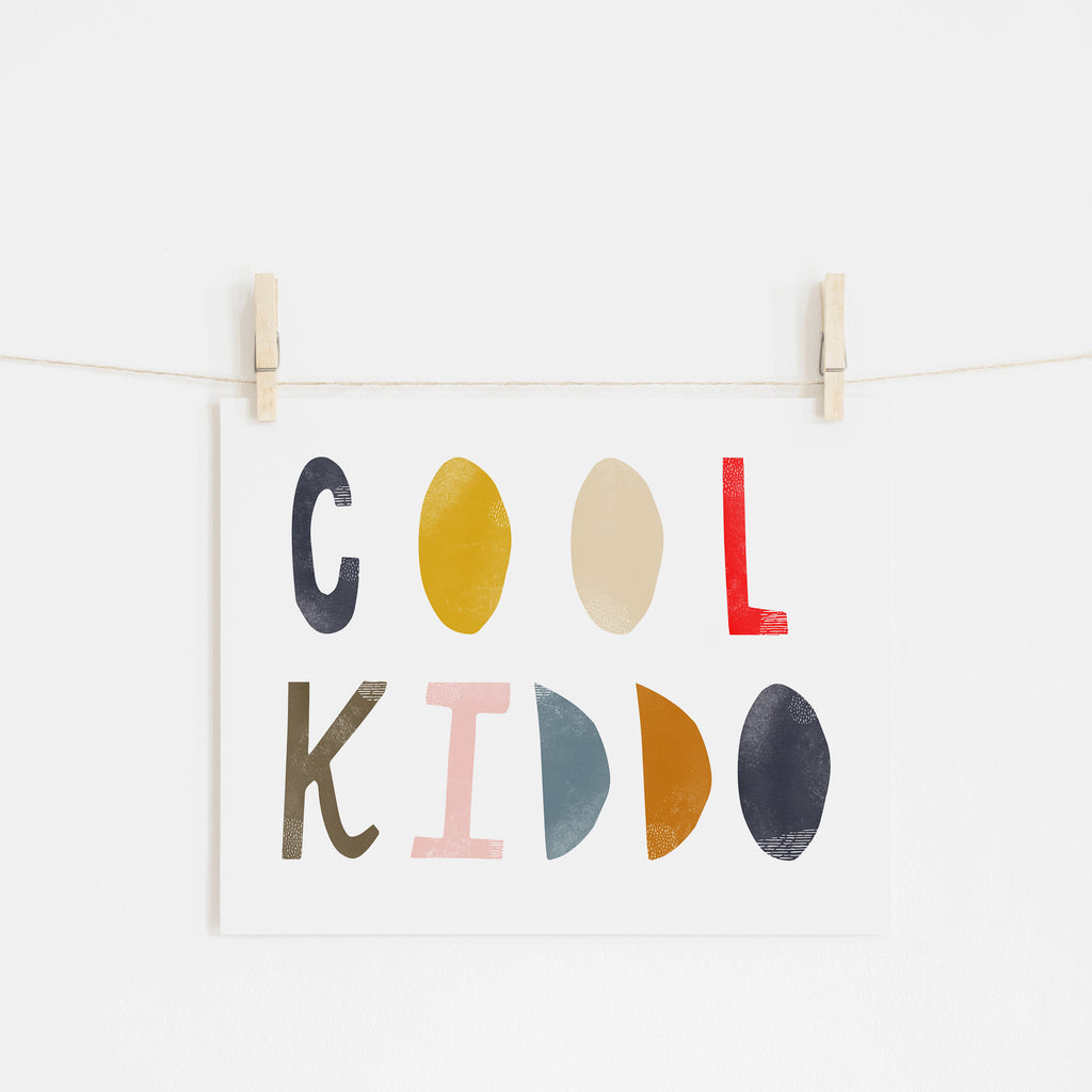 Cool Kiddo - Muted Rainbow |  Unframed