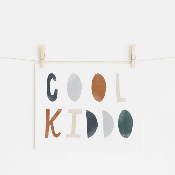 Cool Kiddo - Navy |  Unframed