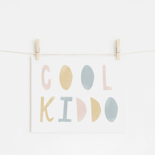 Cool Kiddo - Pink Rainbow |  Unframed