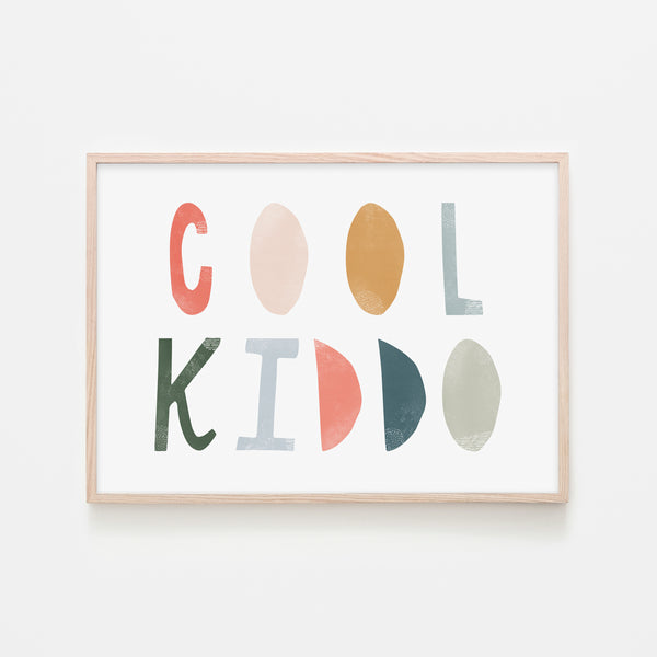 Cool Kiddo - Space |  Framed Print