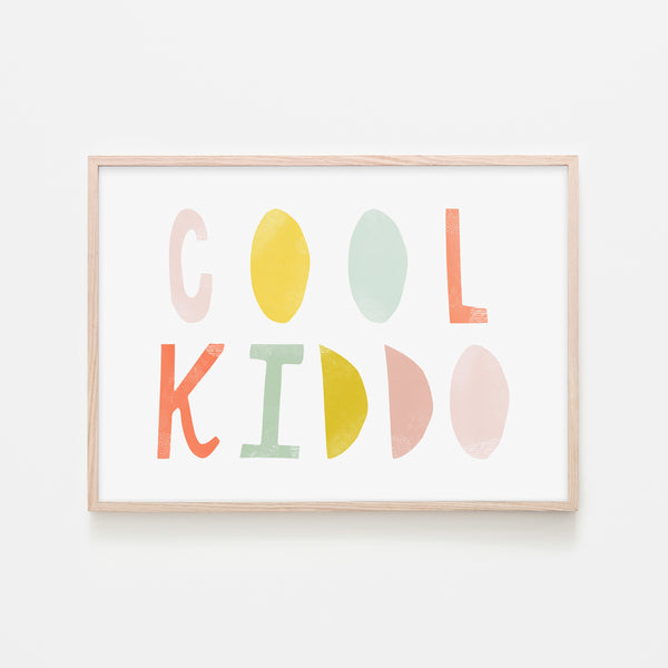Cool Kiddo - Popsicle |  Framed Print