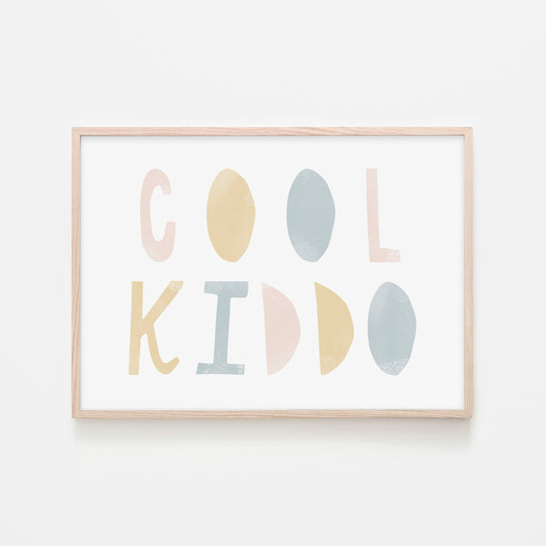 Cool Kiddo - Pink Rainbow |  Framed Print