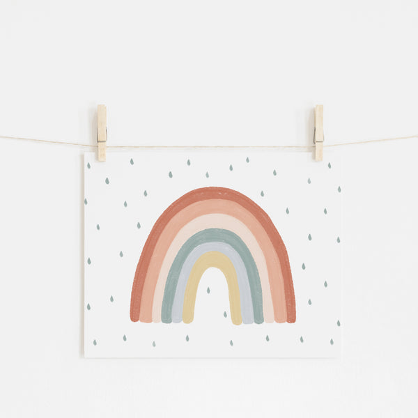 Rainbow Wall Art - Subtle (landscape) |  Unframed