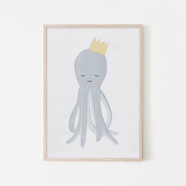 Octopus - Crown |  Framed Print