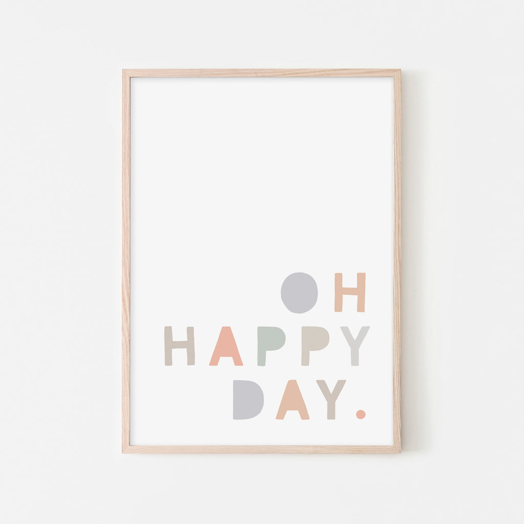 Oh Happy Day - Pastel |  Framed Print
