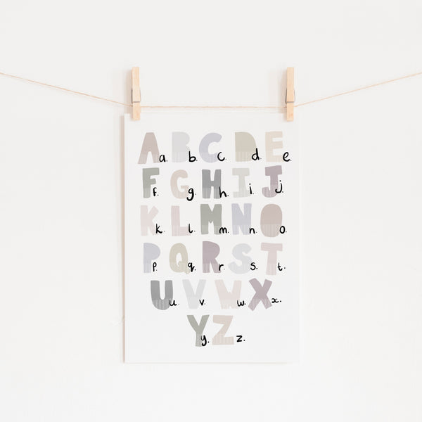 Alphabet Chart - Natural |  Unframed