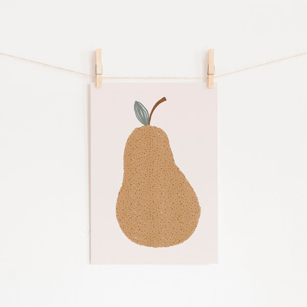 Pear Nursery Wall Art |  Unframed