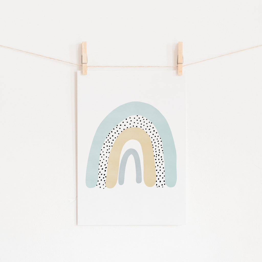 Rainbow Wall Art - Mint Green |  Unframed