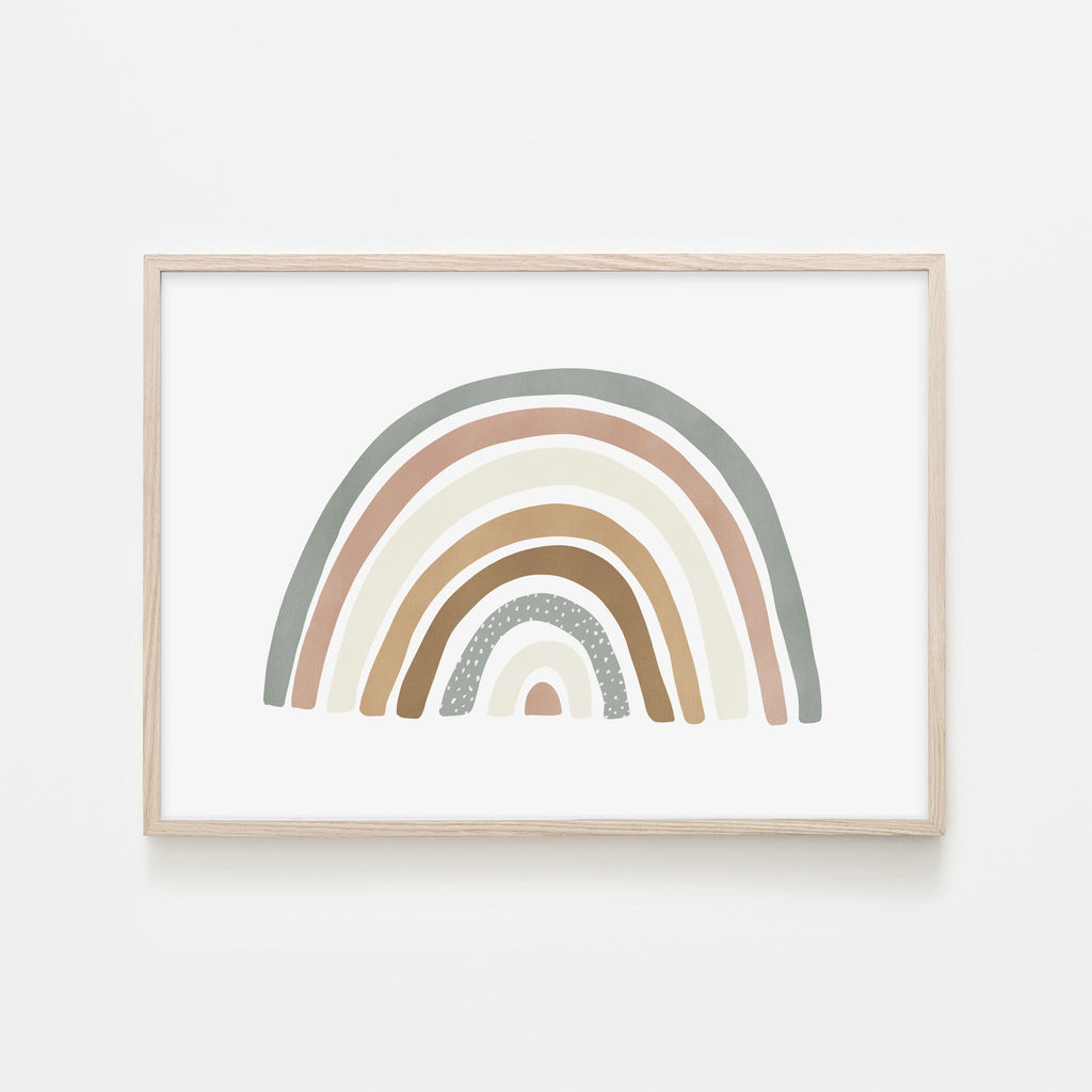 Scandi Rainbow - Watermelon |  Framed Print