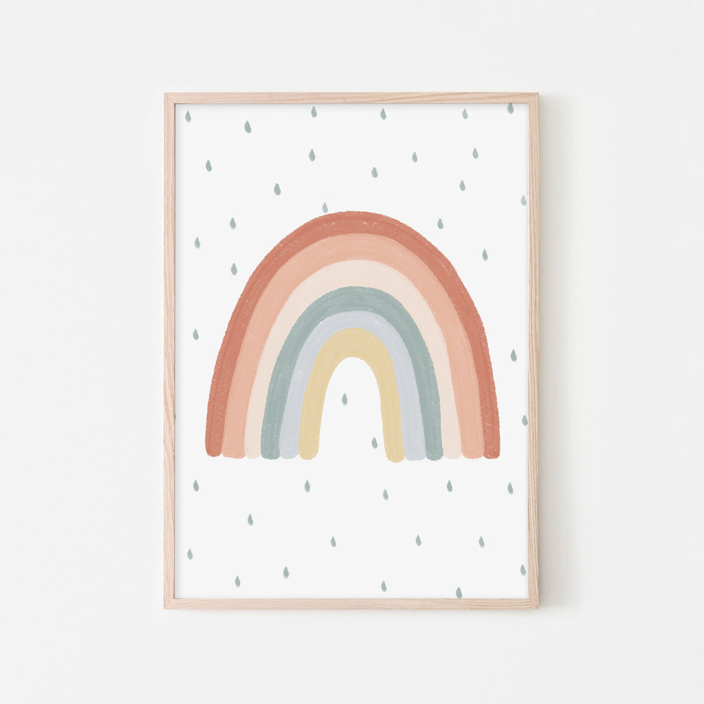 Rainbow Wall Art - Subtle Colours |  Framed Print