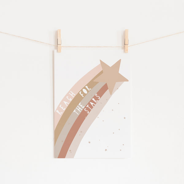 Reach for the Stars Quote - Nudes |  Unframed