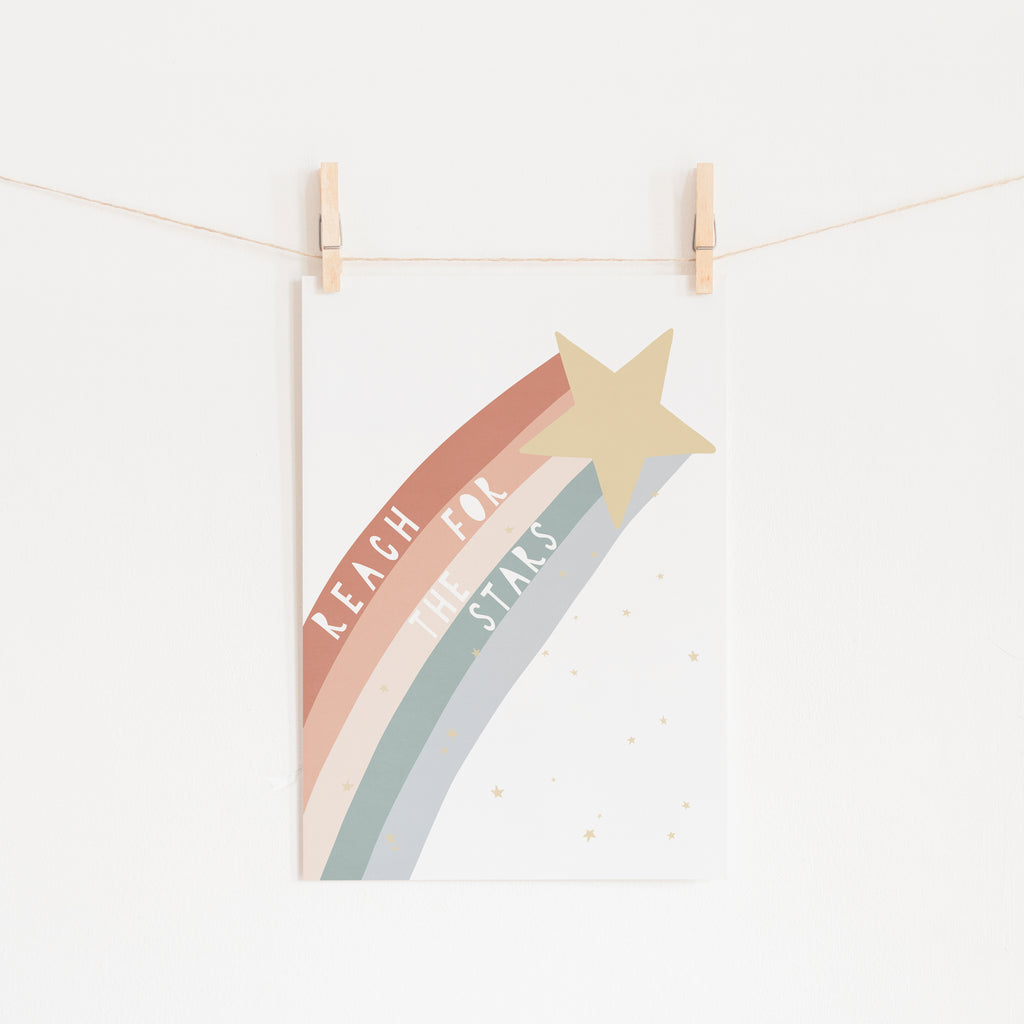 Reach for the Stars Quote - Subtle |  Unframed