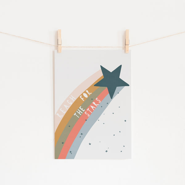 Reach for the Stars Quote - Space |  Unframed