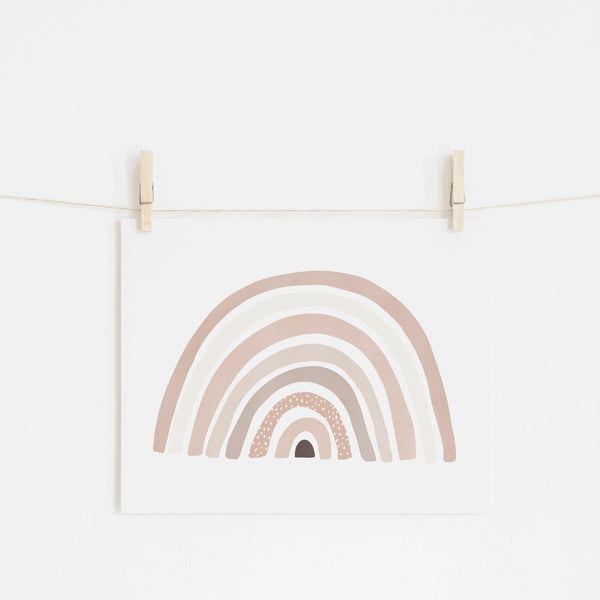 Scandi Rainbow - Pink |  Unframed