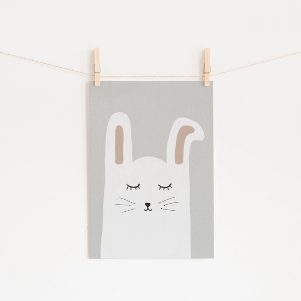 Sleepy Bunny Rabbit |  Unframed