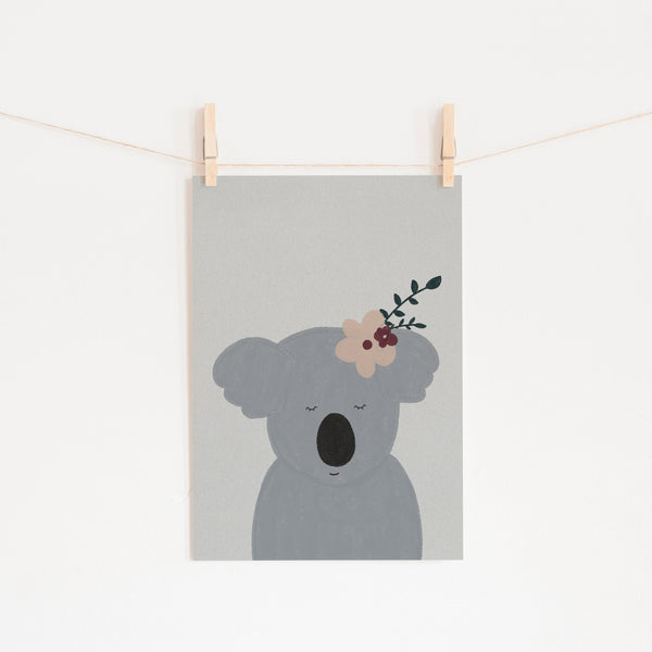 Sleepy Koala |  Unframed