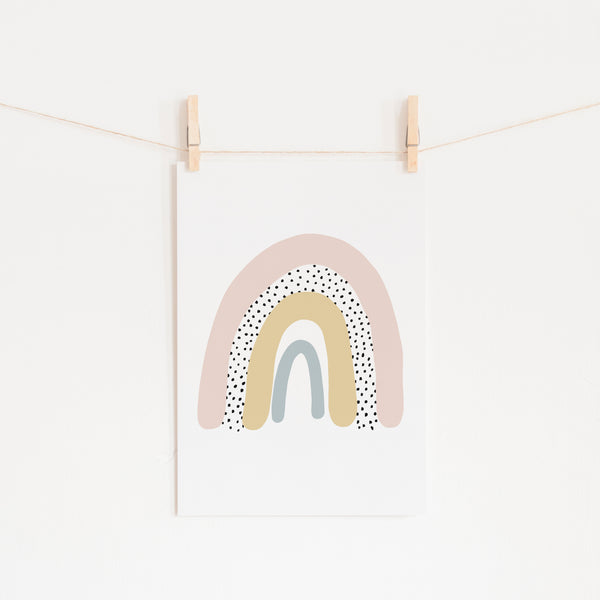 Rainbow Wall Art - Pink |  Unframed