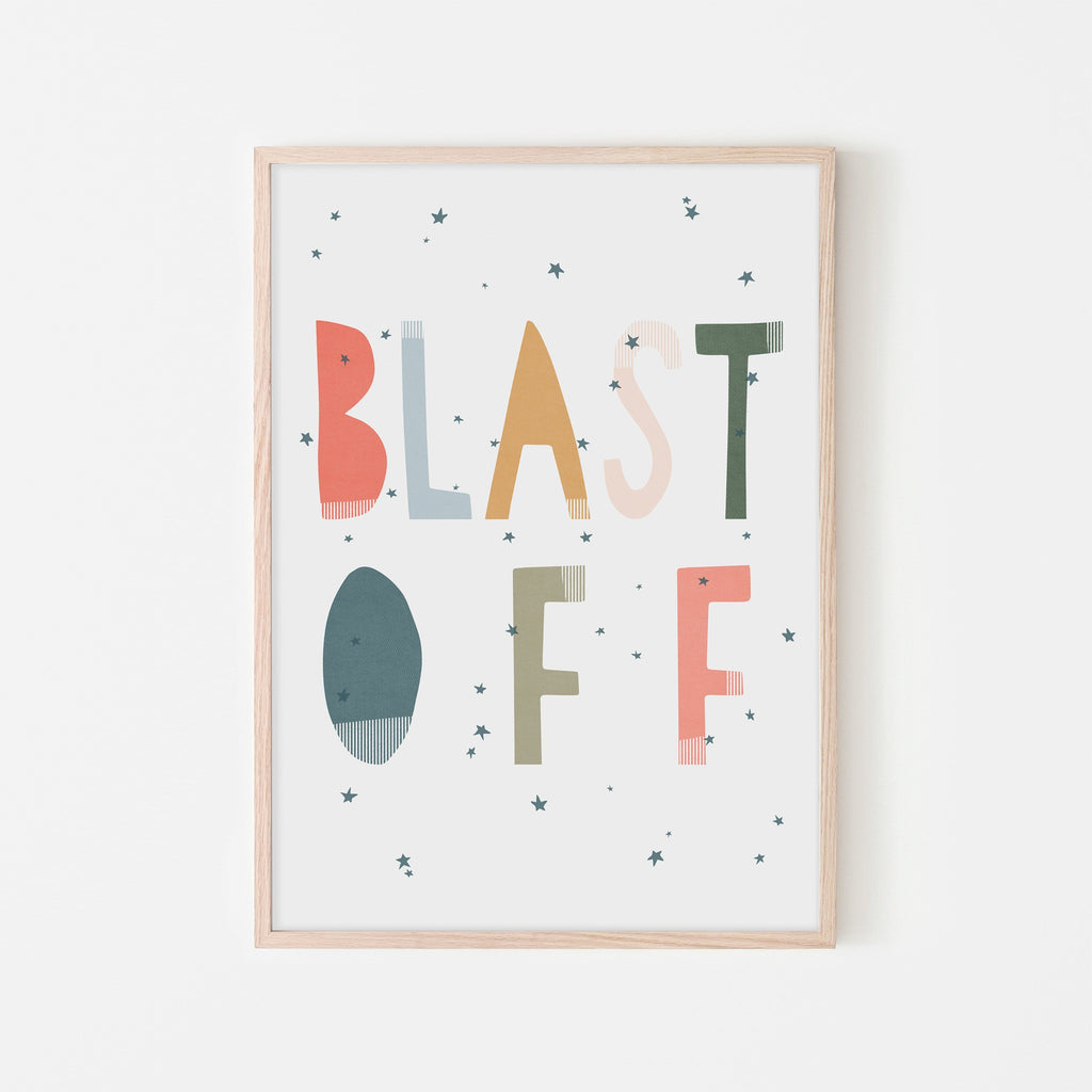 Blast Off - Space Theme |  Framed Print