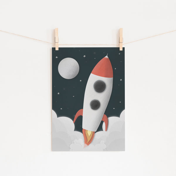 Rocket Space Decor |  Fine Art Print