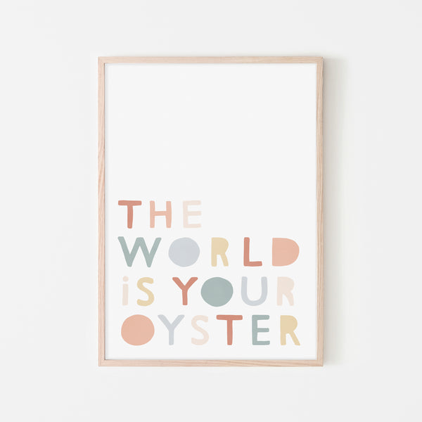 The World is Your Oyster - Subtle |  Framed Print