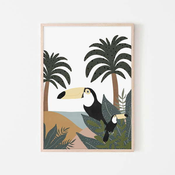 Toucans - Jungle Wall Art |  Framed Print
