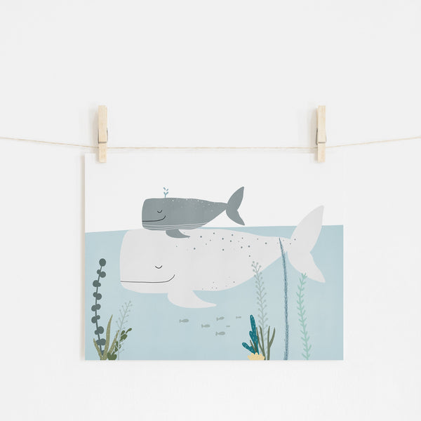 Big Whale, Little Whale |  Fine Art Print