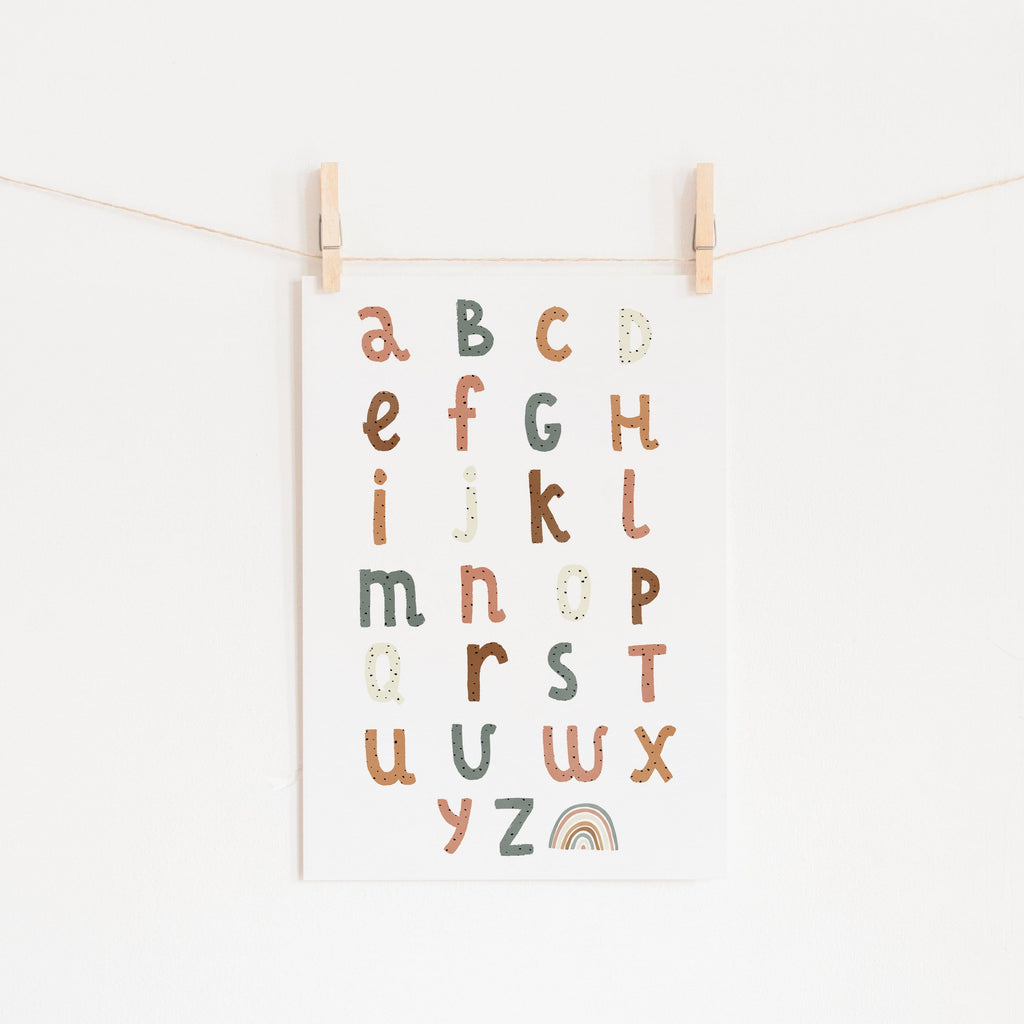 Alphabet Chart Watermelon Colours |  Unframed