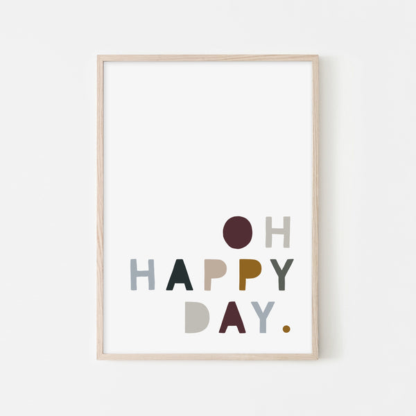 Oh Happy Day - Woodland |  Framed Print