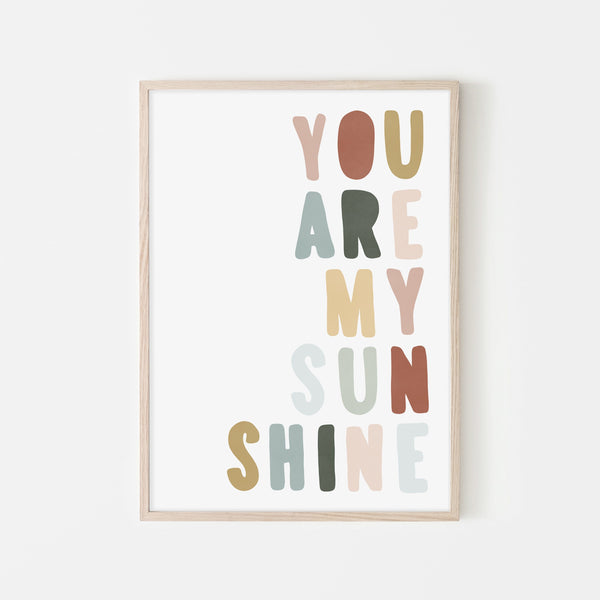 You Are My Sunshine - Autumn Walk |  Framed Print