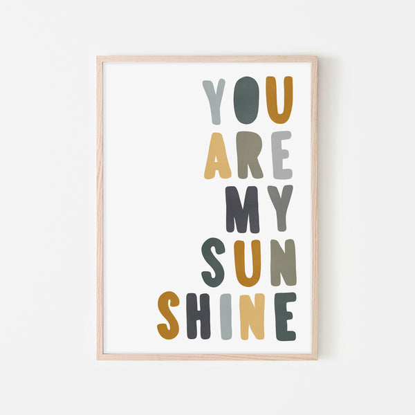 You Are My Sunshine - Jungle Colours |  Framed Print