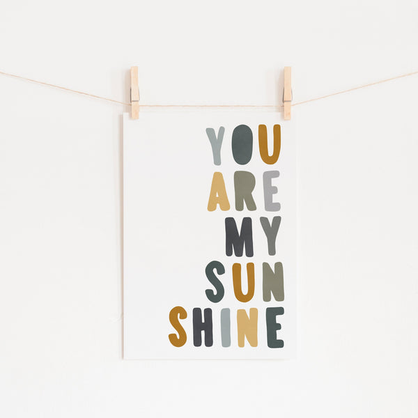 You Are My Sunshine - Jungle Colours |  Fine Art Print