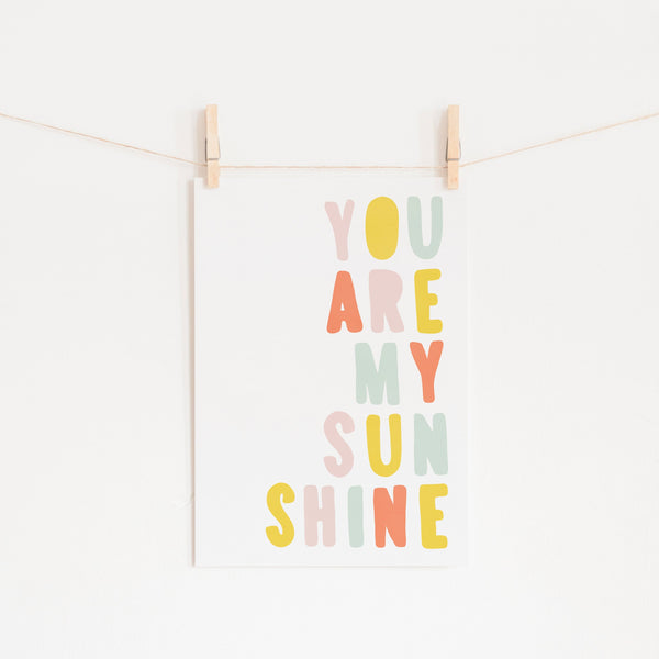 You Are My Sunshine - Pastel Popsicle |  Fine Art Print