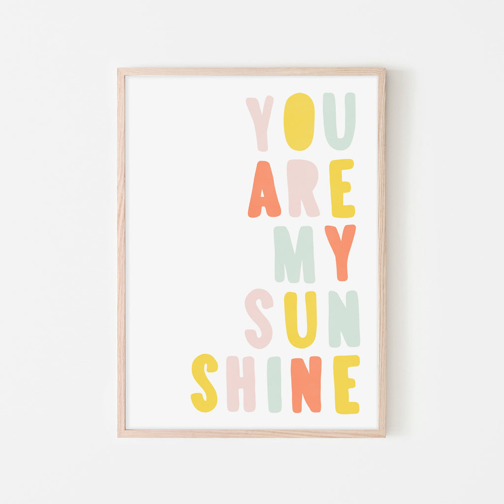 You Are My Sunshine - Pastel Popsicle |  Framed Print