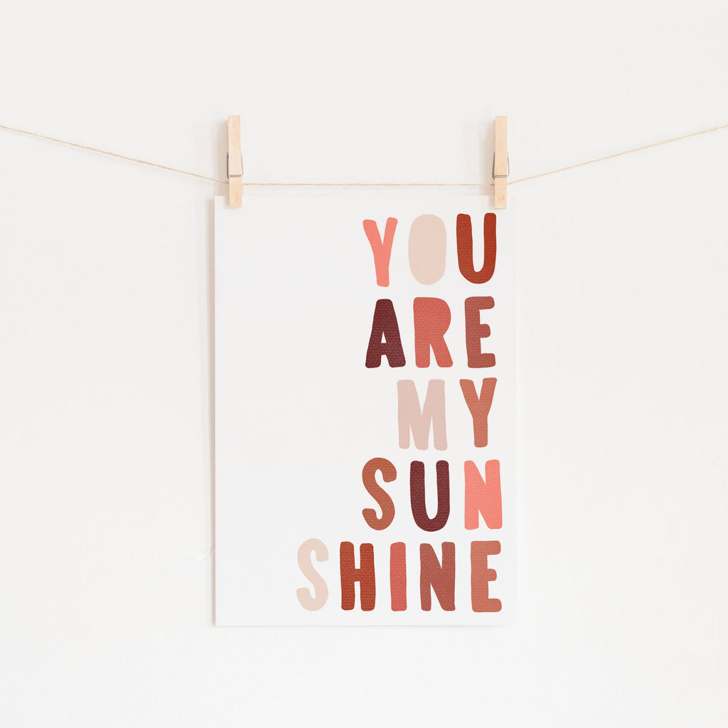 You Are My Sunshine - Red & Pink | Unframed