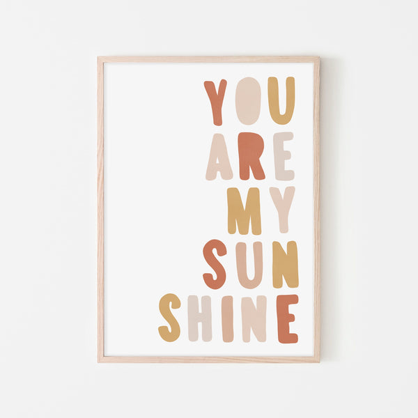 You Are My Sunshine - Sunset |  Framed Print