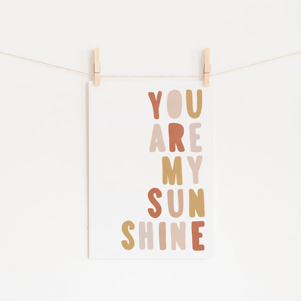 You Are My Sunshine - Sunset |  Fine Art Print
